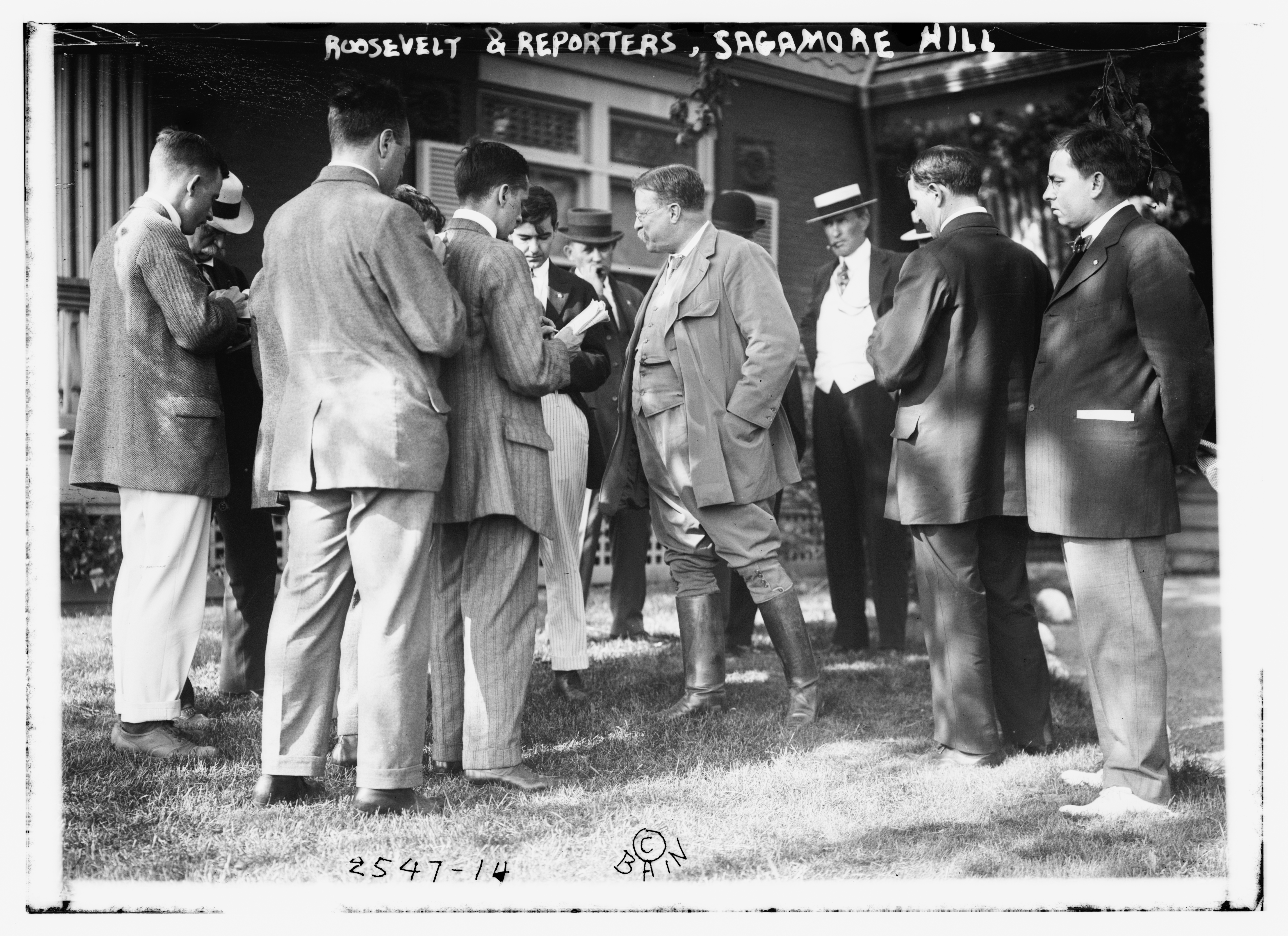 President Theodore Roosevelt and Reporters at Sagamore Hill