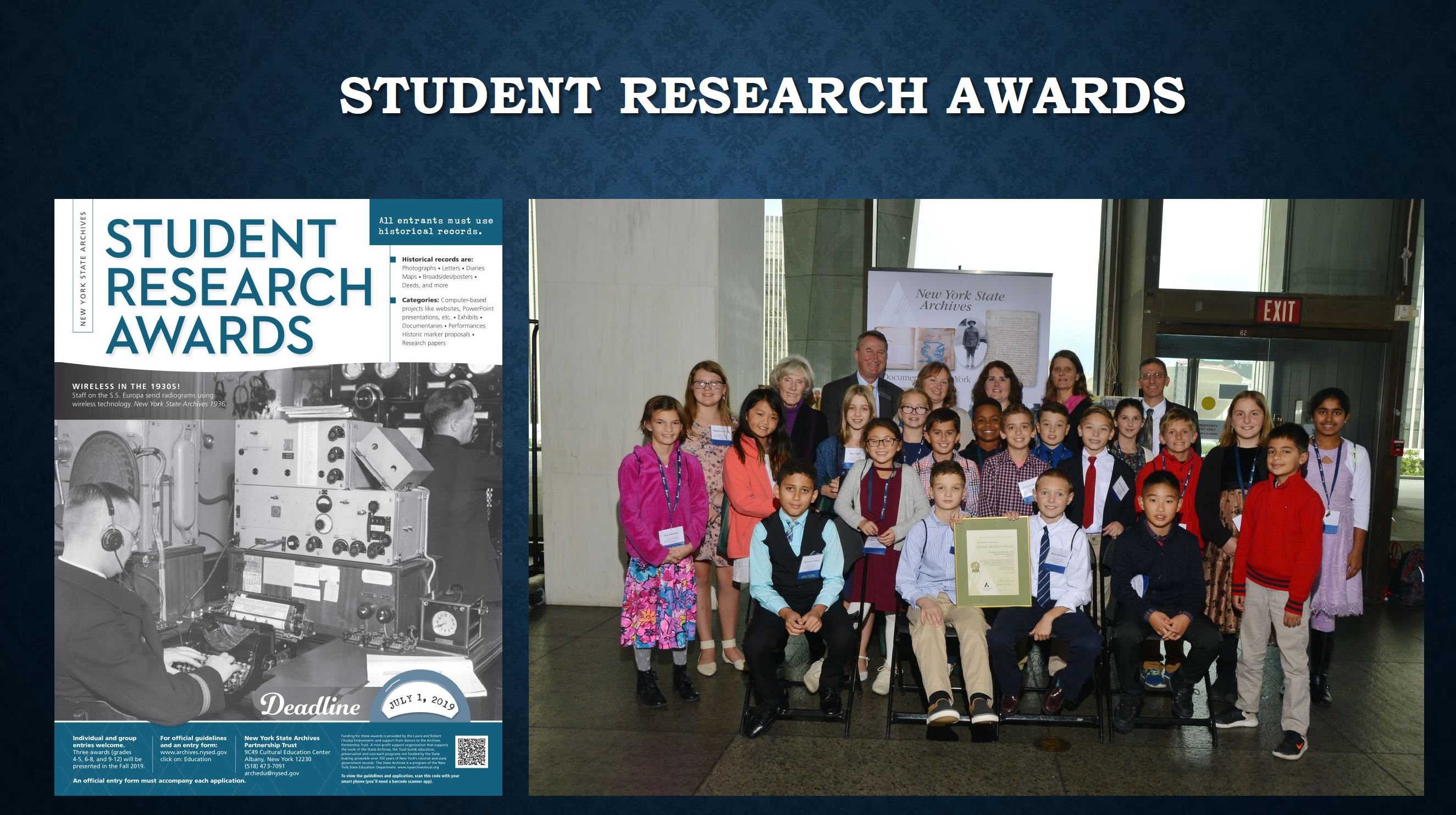 NYS Student Research Awards