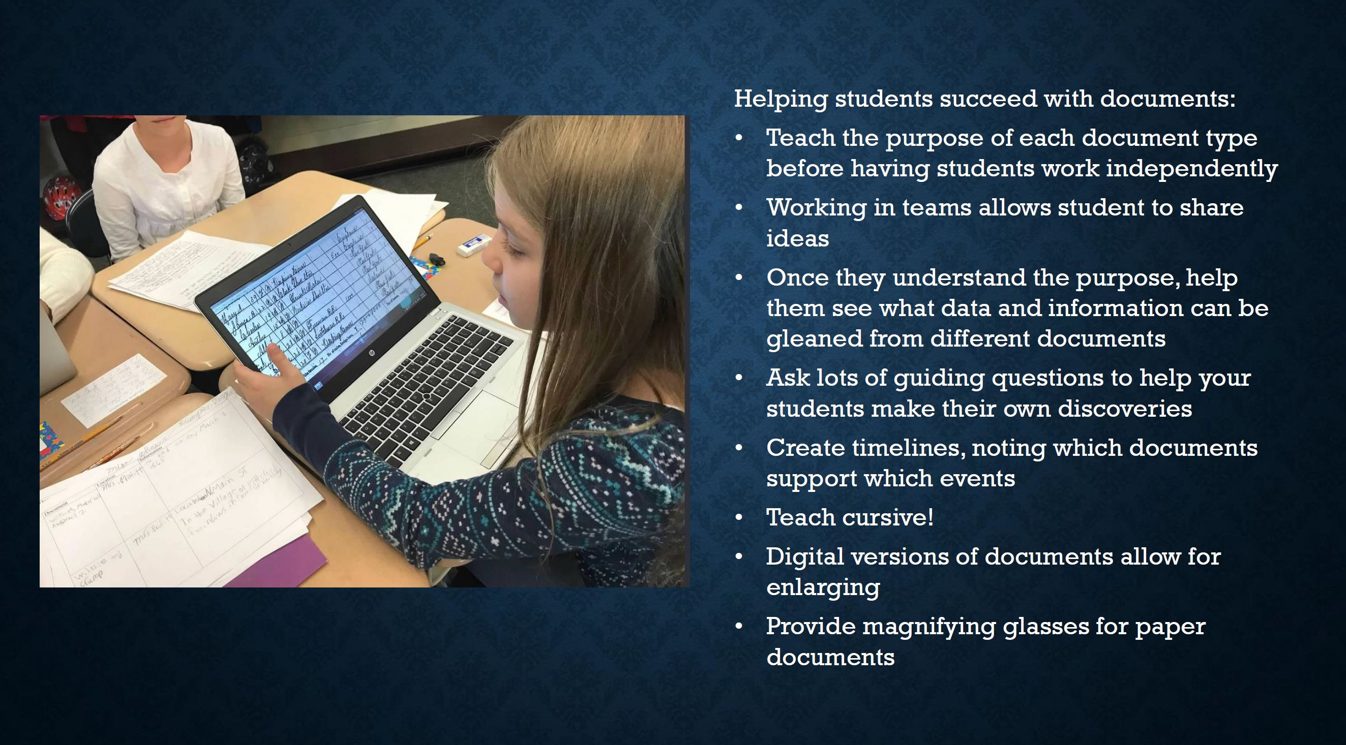 Ways to Help Students Work with Documents