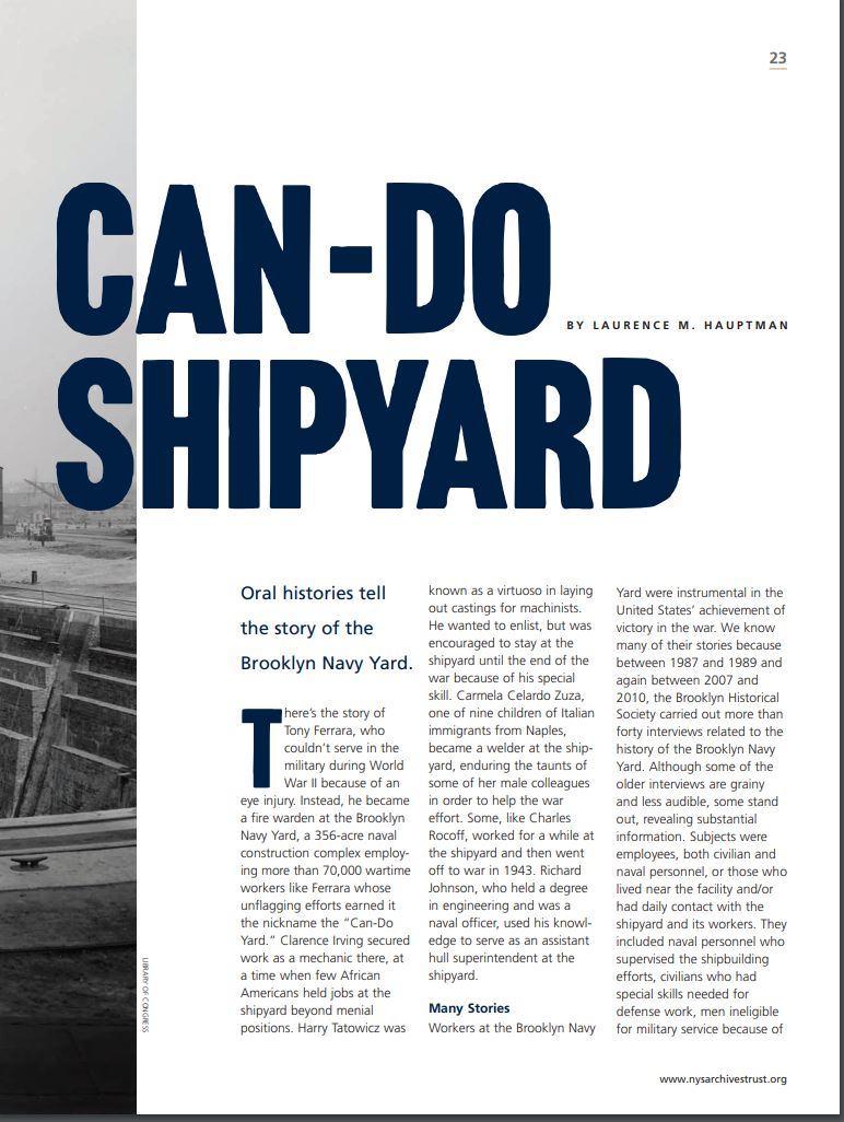 Can Do Shipyard Article