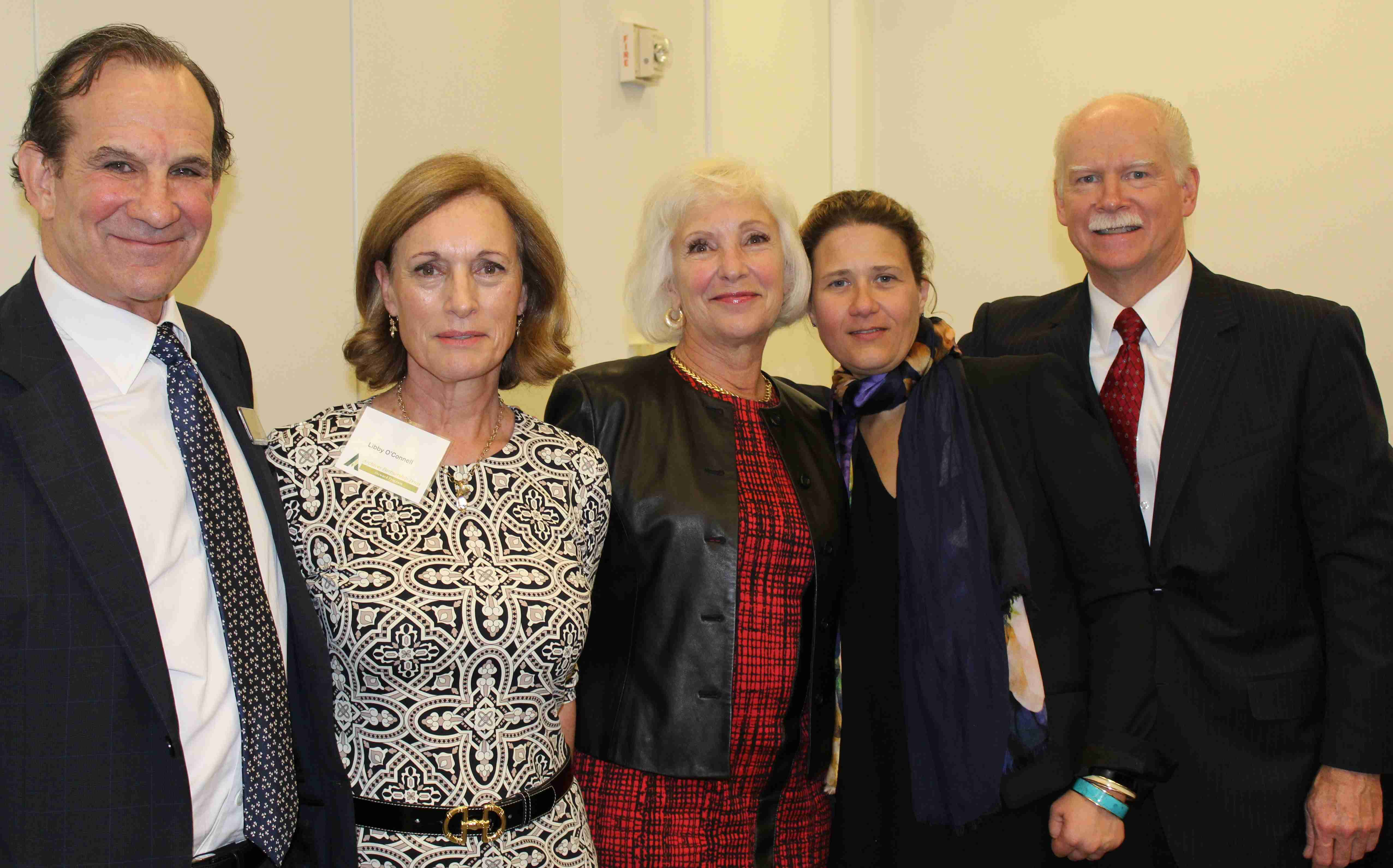 Ed Swyer, Dr. Libby O'Connell, Kathryn Curran, Kim Gilmore and George Hearst III