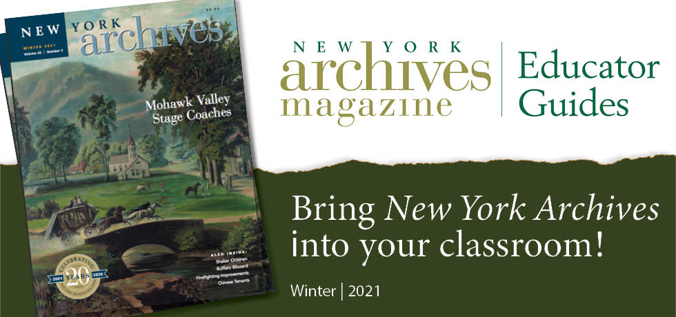 Winter 2021 New York Archives Magazine Educator Guide