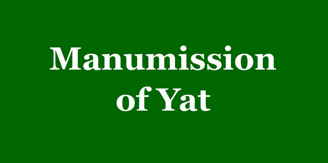 Manumission of Yat